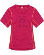 Haglöfs Intense Logo Tee Women, röd