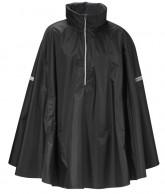 Didriksons Wheely Unisex Cape, regncape, svart