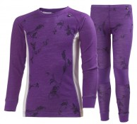 Helly Hansen JR Warm, skidunderställ set, lila