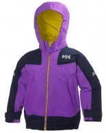 Helly Hansen K Velocity Barn og junior skidjacka, purpur/svart