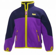 Helly Hansen K Fleece Jacket till barn och junior, purpur/blå