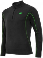 4F Microtherm tröja i fleece, herr, svart