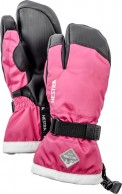 Hestra Gauntlet 3-finger junior skidhandske, pink