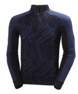 Helly Hansen Warm Freeze 1/2 Zip, mörkblå-print