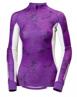 Helly Hansen W  Warm Freeze 1/2 Zip, lila print