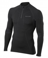 Falke Wool-Tech Zip Shirt Comfort, herr, svart