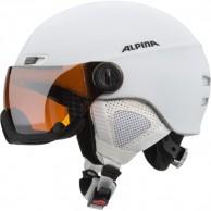 Alpina Menga JV skidhjälm med Visir, Matt Vit