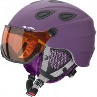 Alpina Grap Visor HM, skidhjälm med Visir, Matt Violet