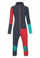 Ortovox Merino RockNWool Overall W, bodysuit, blå/röd