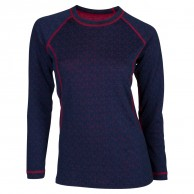 Ulvang 50Fifty Round neck Ws, dam, New Navy/Persian Red