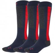 4F Ski Socks, billiga skidstrumpor, herr, 3-par, blå/röd