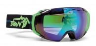 Demon Storm skidglasögon, svart/grön
