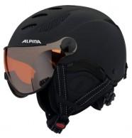 Alpina Jump JV skidhjälm med Visir, Matt Svart