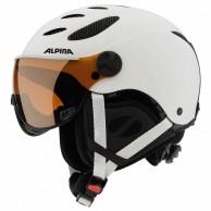 Alpina Jump JV skidhjälm med Visir, Matt Vit