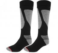 4F Ski Socks, skidstrumpor, herr, 2-par, svart/grå