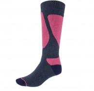 4F Ski Socks, Dam skidstrumpor, 1-par, blå/violet