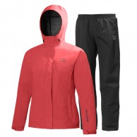 Helly Hansen W Seven J set, regnkläder, dam, röd