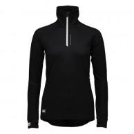 Mons Royale Checklist Hood LS, skidundertröja dam, Black Birdseye