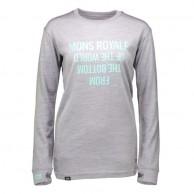 Mons Royale Boyfriend LS, skidundertröja dam, Grey Marl