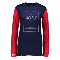 Mons Royale Boyfriend LS, skidundertröja dam, Navy Raspberry