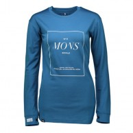Mons Royale Boyfriend LS, skidundertröja dam, Blue Steel
