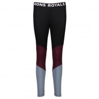 Mons Royale Christy Legging, skidunderbyxor dam, Burgundy Lead