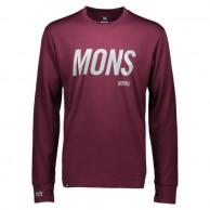 Mons Royale Original LS, skidundertröja, Burgundy