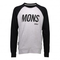 Mons Royale Covert Tech Sweat, skidtröja, Grey Marl