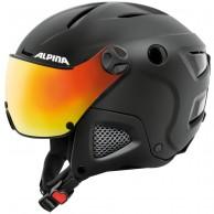 Alpina Attelas Visor QVM, skidhjälm med visir, svart