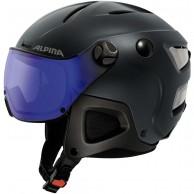 Alpina Attelas Visor VHM, skidhjälm med visir, matt blå