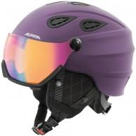 Alpina Grap Visor HM, skidhjälm med Visir, violett