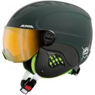 Alpina Carat LE, junior skidhjälm med visir, matt grön