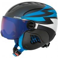 Alpina Carat LE, junior skidhjälm med visir, mörkblå