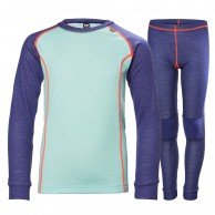 Helly Hansen JR Warm, skidunderställ set, lavendel