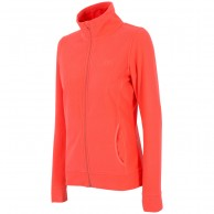 4F dam fleece jacka, coral