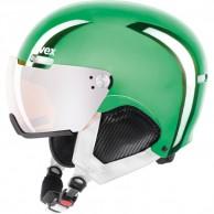 Uvex hlmt 500 skidhjälm med visir, grön krom