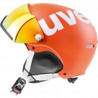 Uvex hlmt 500 skidhjälm med visir, orange