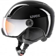 Uvex hlmt 400 skidhjälm med visir, svart