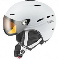 Uvex hlmt 200 skidhjälm med visir, vit