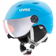 Uvex junior pro, skidhjälm med visir, matt blå
