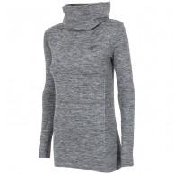 4F skidunderställs tröja med hög hals dam, salt & peppar