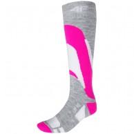 4F Ski Socks, billiga skidstrumpor, dam, rosa