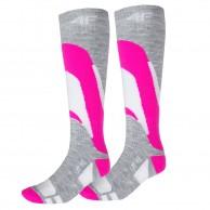 4F Ski Socks, 2 par billiga skidstrumpor, dam, rosa