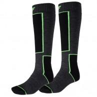 4F Ski Socks, 2 par Billiga Skidstrumpor, Mörkgrå