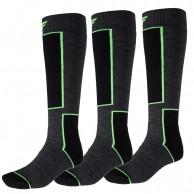 4F Ski Socks, 3 par Billiga Skidstrumpor, Mörkgrå