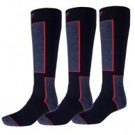 4F Ski Socks, 3 par billiga skidstrumpor, dark navy