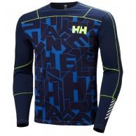 Helly Hansen Lifa Active Graphite Crew, herr, blå