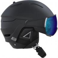 Salomon Driver+, skidhjälm med visir, svart/silver