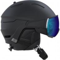 Salomon Driver, skidhjälm med visir, svart