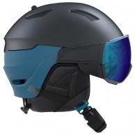 Salomon Driver, skidhjälm med visir, mörkblå